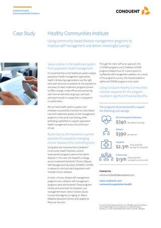 Case Study: HCI Disease Management