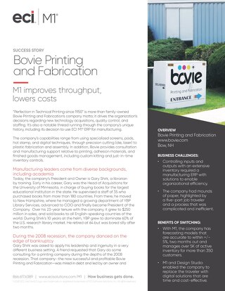 Bovie Printing and Fabrication Case Study