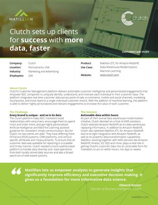Clutch sets up clients for success with more data, faster