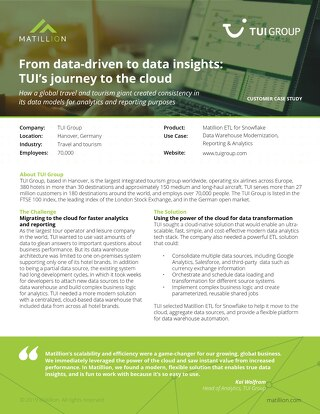 From data-driven to data insights: TUI's journey to the cloud