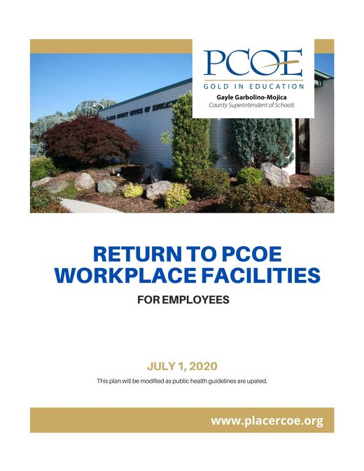 PCOE Employee Return to Workplace