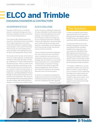 ELCO and Trimble - Engaging Engineers & Contractors