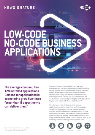 NS:GO Low-Code No-Code Business Apps 2020 Flyer