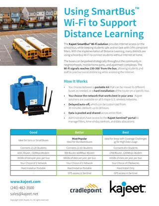 Kajeet SmartBus for Distance Learning
