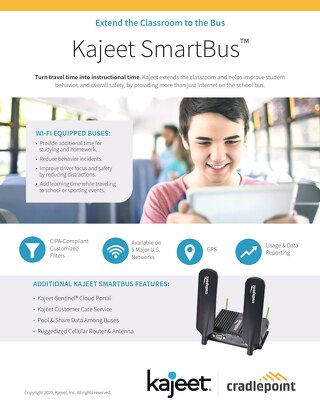 Kajeet SmartBus Wi-Fi - Cradlepoint