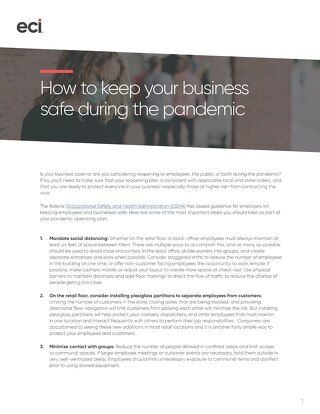 Keep Your Business Safe During Pandemic