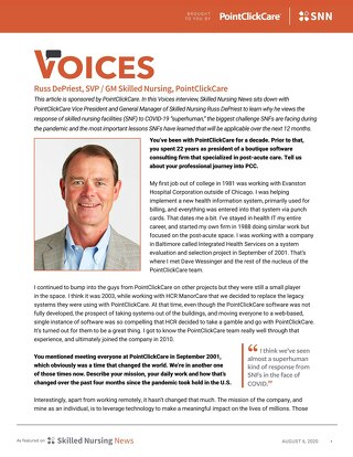 SNN Voices Article: Russ DePriest