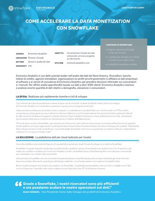 Come Accelerare la Data Monetization con Snowflake