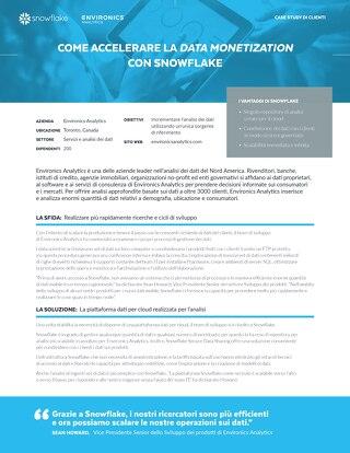 Come Accelerare la Data Monetization con Snowflake