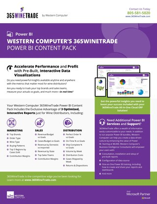 365WineTrade Power BI Content Pack