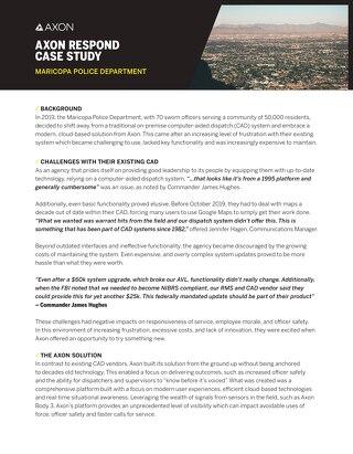 Case Study: Maricopa PD Case Study - Respond