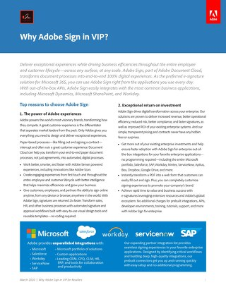 Why Adobe Sign in VIP