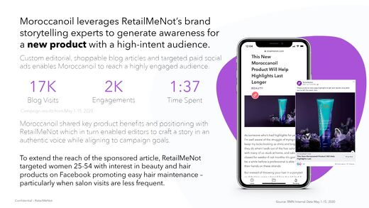 RetailMeNot + Moroccanoil Case Study