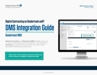 Digital Contracting DMS Integration Guide - Dealertrack DMS