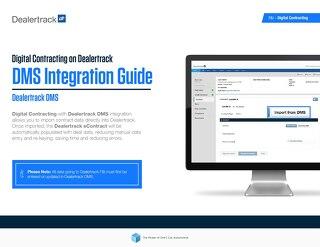 Digital Contracting DMS Integration Guide - Dealertrack DMS