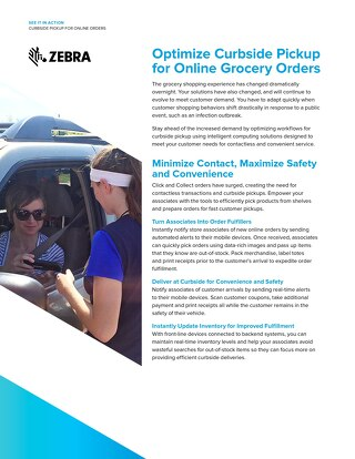 Optimize Curbside Pickup for Online Grocery Orders with Zebra