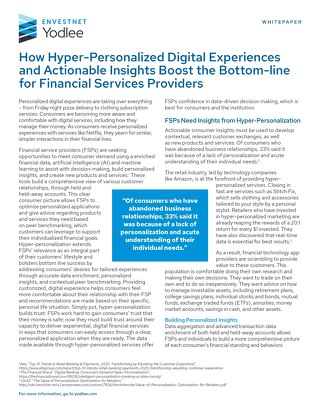 How Hyper-Personalized Digital Experiences and Actionable Insights Boost the Bottom line for FSPs