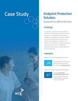 How a Top 20 Pharma Company Protected Their Primary Endpoint