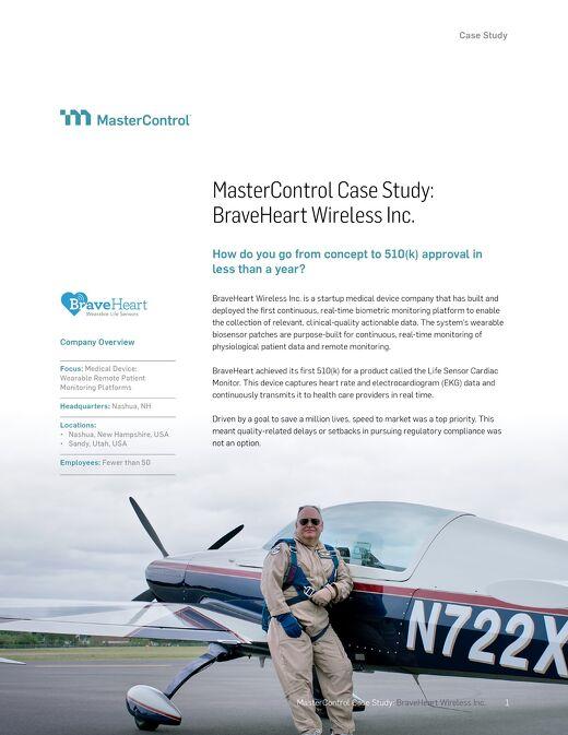 MasterControl Case Study: BraveHeart Wireless Inc.