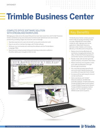 Trimble Business Center Solution Sheet