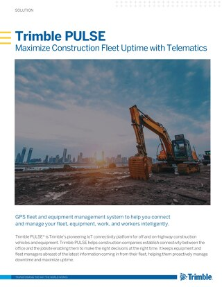 Trimble PULSE Telematics Solution Sheet
