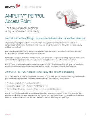AMPLIFY™ PEPPOL Access Point