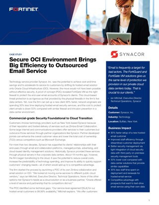Secure OCI Environment Brings Big Efficiency to Outsourced Email Service