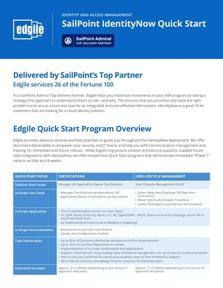 SailPoint IdentityNow Quick Start
