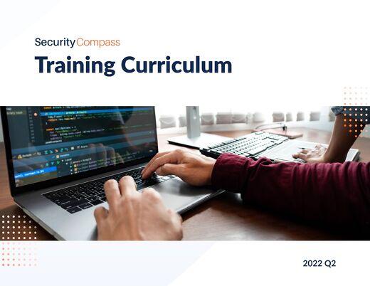 Training Curriculum 2021 Q1