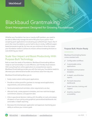 Blackbaud Grantmaking for Growing Foundations