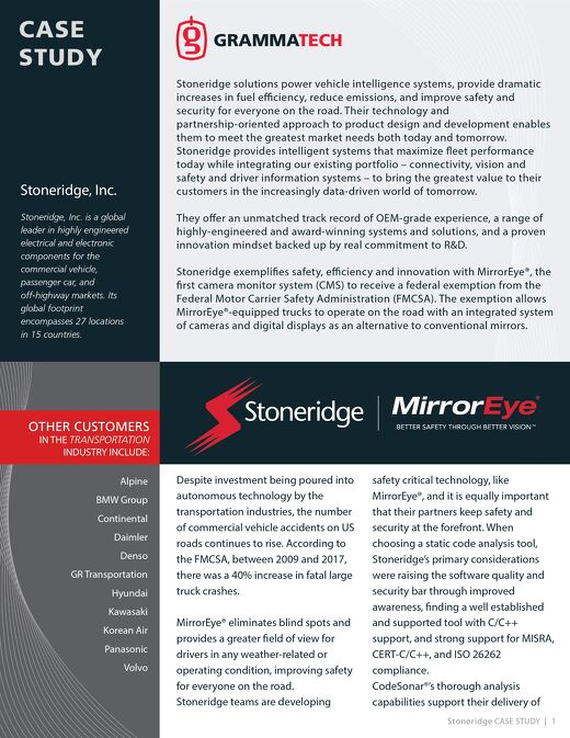 Stoneridge Case Study