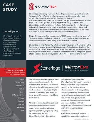 Stoneridge Case Study