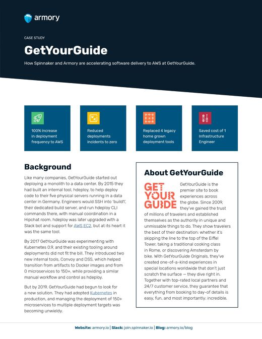 Armory GetYourGuide Case Study