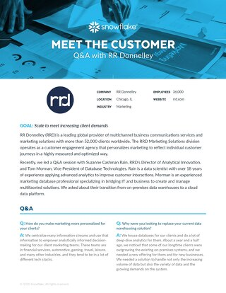 Meet the Customer Q&A: RR Donnelley