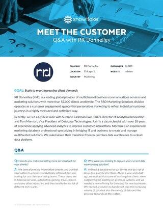 Meet the Customer Q&A: RR Donnelley