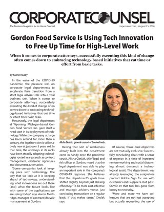 Gordon Food Service Uses Icertis to Free Up Time for High-Level Work - Corporate Counsel