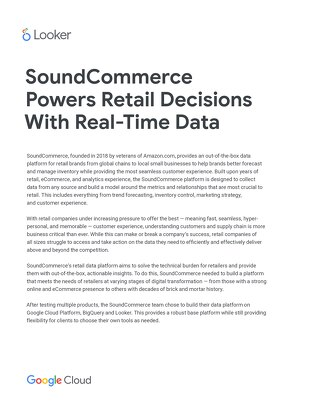 SoundCommerce powers retail decisions with real-time data