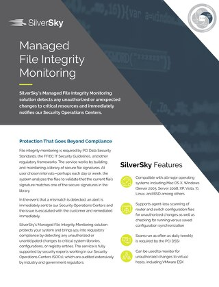 Managed File Integrity Monitoring
