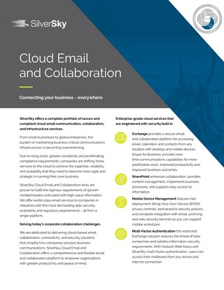 Cloud Email and Collaboration
