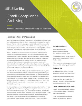 Email Compliance Archiving