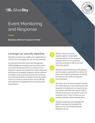 Event Monitoring and Response