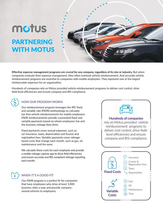 Partnering With Motus - Fleet