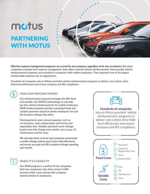 Partnering With Motus - Fleet