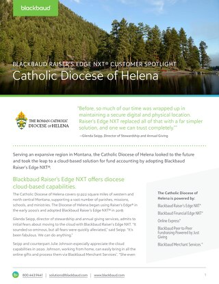 Diocese of Helena Customer Spotlight