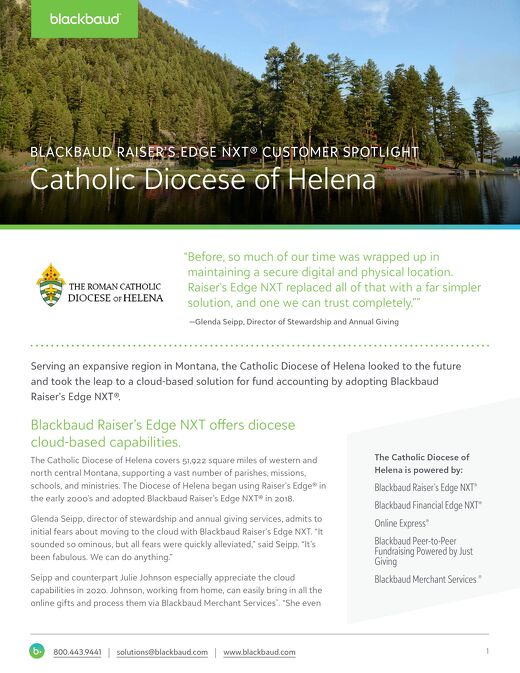 Diocese of Helena Customer Spotlight