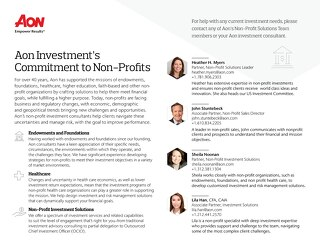 Aon's Non-Profit Solutions Team