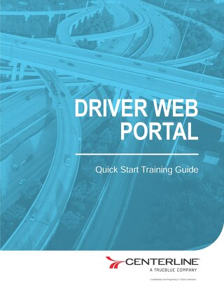 [Training Guide]  Driver Web Portal
