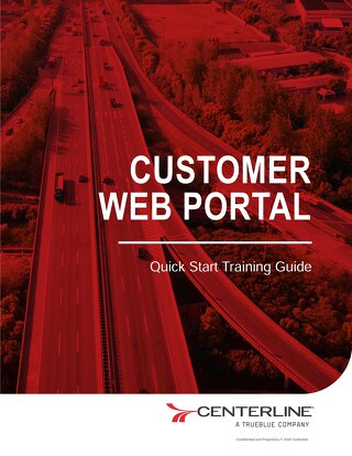 Centerline Customer Web Portal Training Guide