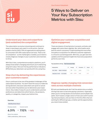 5 Ways to Deliver on Your Key Subscription Metrics with Sisu