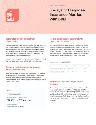 5 Ways to Diagnose Insurance KPIs with Sisu